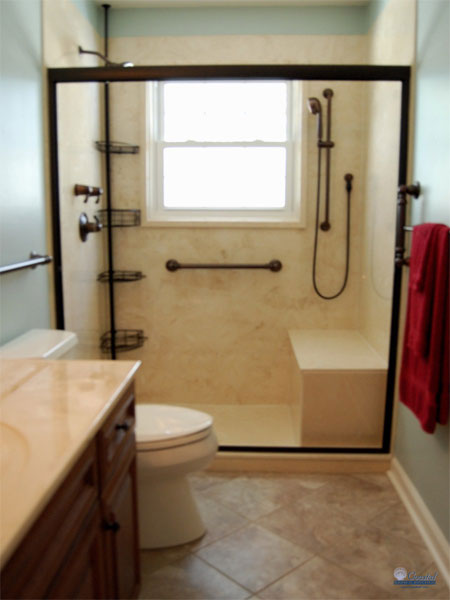Americans with disabilities act ada coastal bath and for Wheelchair accessible bathroom designs